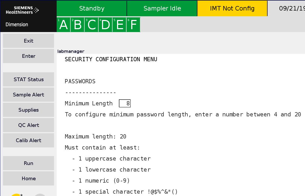 Software 10.4 Update – Customizing Minimum Password Length