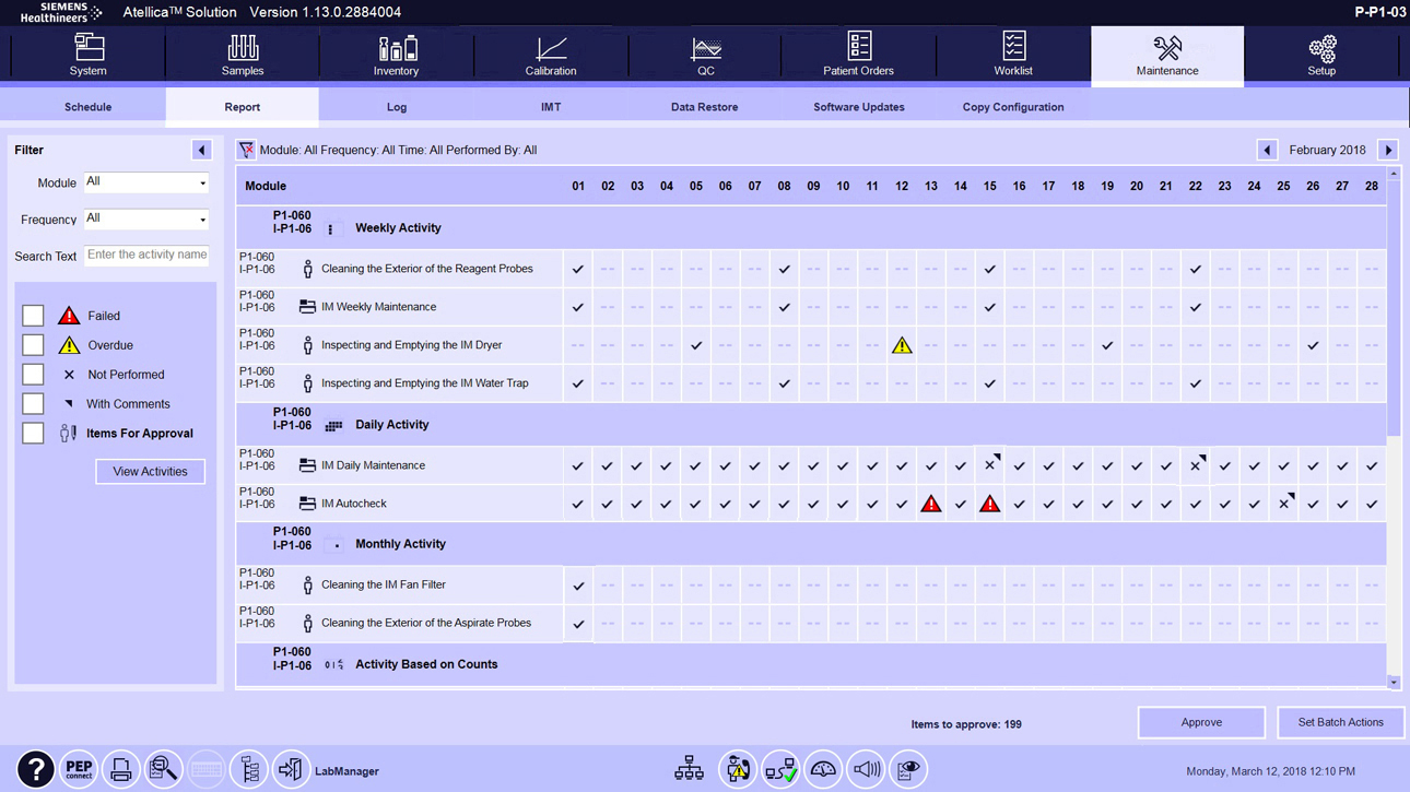 Maintenance Software Overview PEP to Go