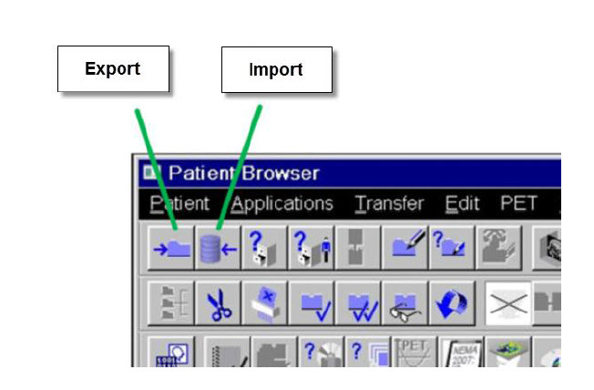 Exporting and Importing Patient Data