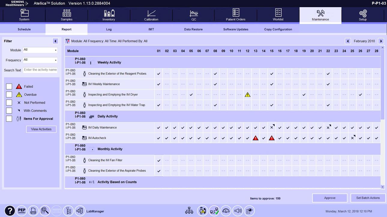 Maintenance Software Overview Assessment