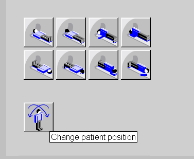 """How to Use the : Change Patient Position""""  to Icon Re-Zero the Table"""